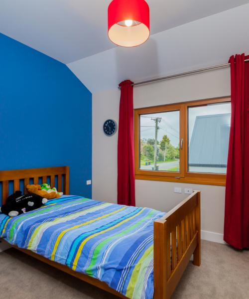 Childrens' bedrooms are cosy and colourful