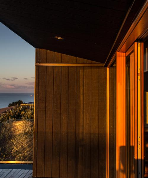 Sunset on the timber finishes